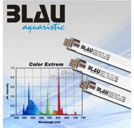 BLAU Tube T5 Pink Color 54 Watts Rose - 1150mm