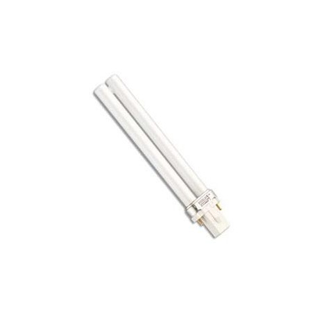 BLAU Tube Fluo Compact 9 Watts Blanc/Rose - Culot G23