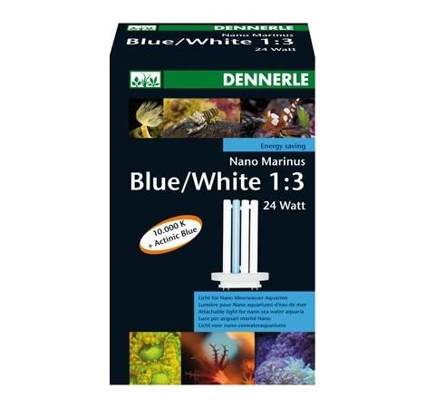 DENNERLE Tube Fluo Compact pour Nano Marinus White/Blue 24 Watts