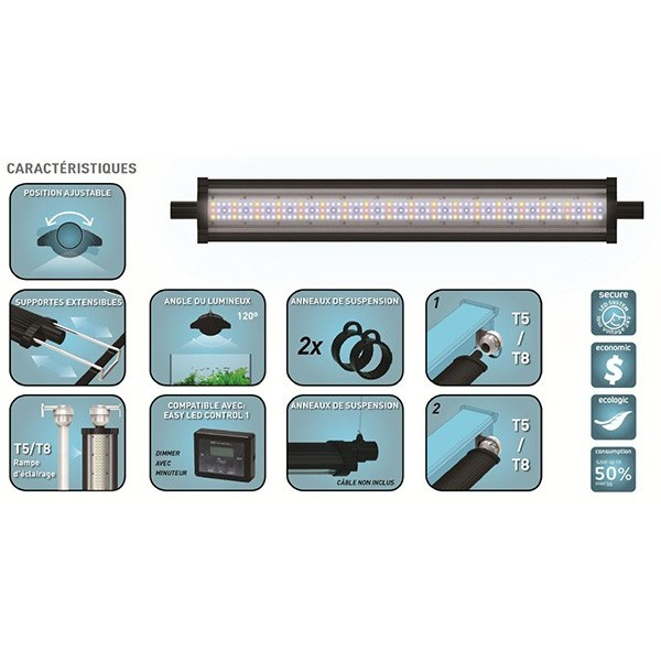 Aquatlantis Led Easyled Led Aquatlantis Rampe 590mm Rampe SzMqUVp