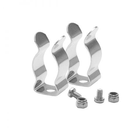 Clips T5 métallique + Vis - Vendus par 2