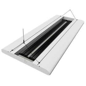 GIESEMANN Rampe Hybride T5-LED Stellar 600 mm Polar White - 4x24 Watts