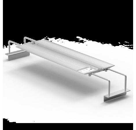 NEMOLIGHT II Rampe LED pour Aquarium Eau de Mer - 48 Watts - Argent