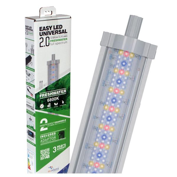 AQUATLANTIS Rampe LED EasyLED Universal 2.0 Eau Douce - 6800K - 438mm