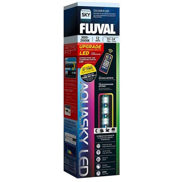 FLUVAL AquaSky 12 Watts Colour+ LED - Rampe LED pour aquarium