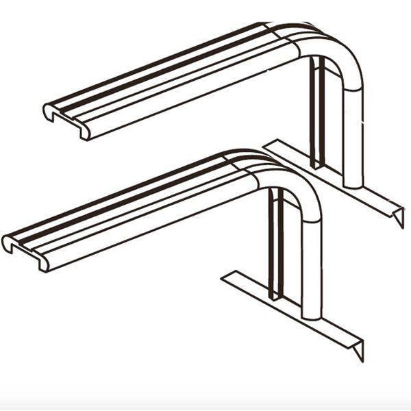 AQUAVIE Leg L - Supports ajustables 60 à 75 cm pour GrassyCore Sealight LED 148W