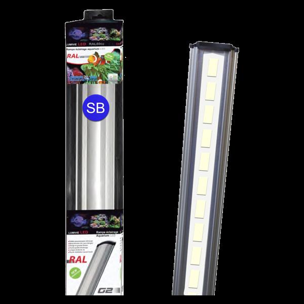LUMIVIE RAL G2 30 Watts LEDs SM / Bleu Rampe Led pour Eau de Mer - 100cm