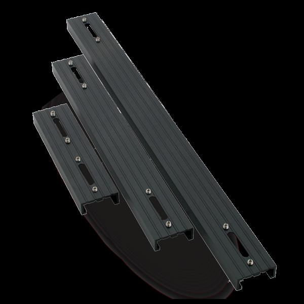 AQUA ILLUMINATION EXT Rail simple pour rampe LED Hydra 26 et 52 Noir - 15,2 cm